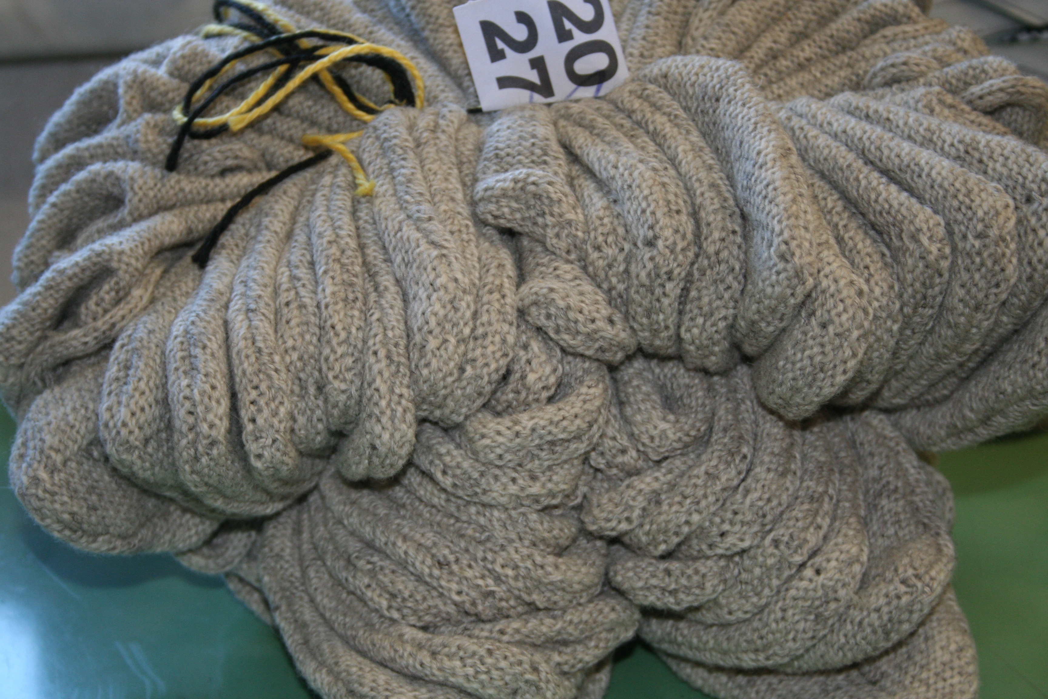het sokgedeelte van de wollen Tuflaa slof